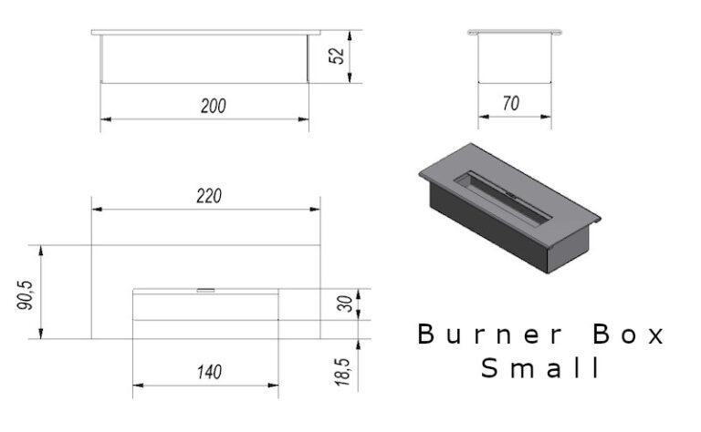 Burner Box Small Tech Drawing