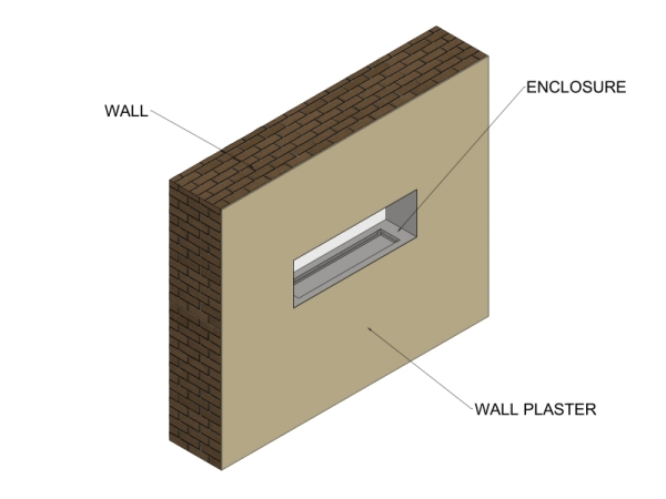 Double Sided Fireplace Opening
