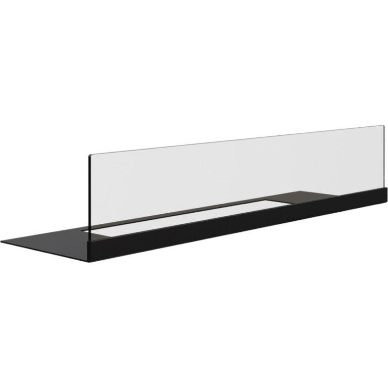 Carefree Black Glass Panel