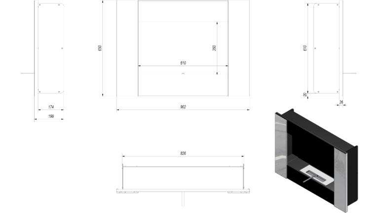 Casa Grande Black Tech Drawing