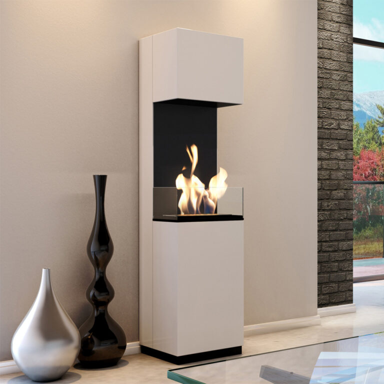 Oro White With Glass Panel