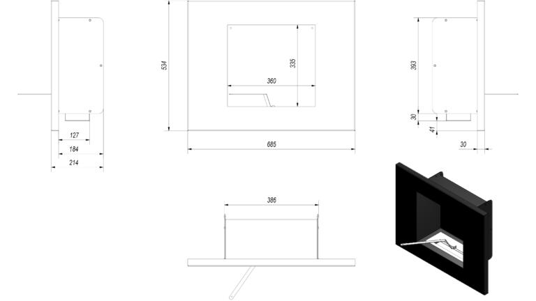 Pima Black Tech Drawing