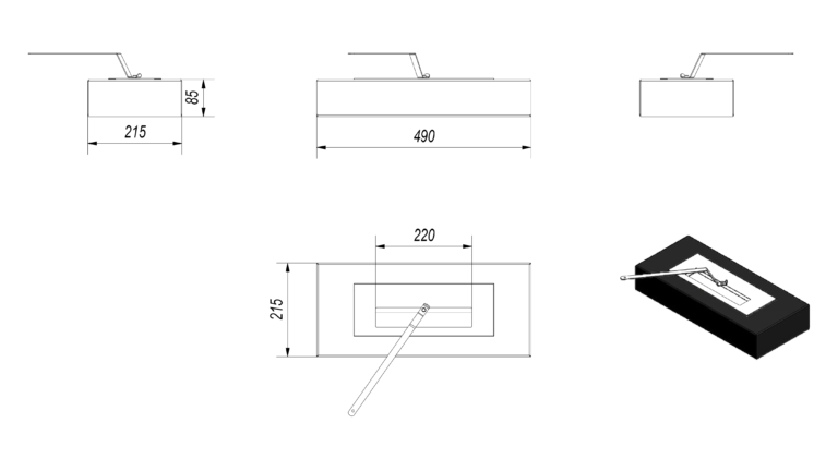 Vial Medium Tech Drawing