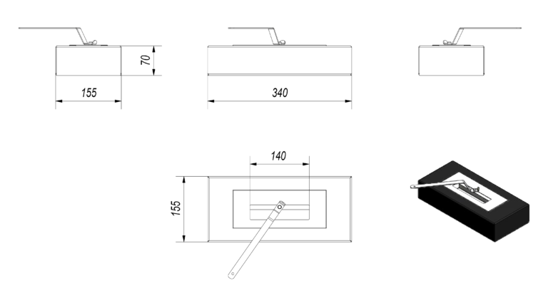 Vial Small Tech Drawing